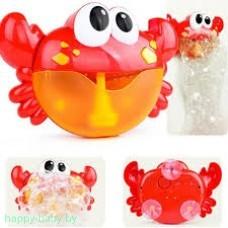 """Игрушка пенная  для ванной """"Краб"""" с мыльными пузырями"""