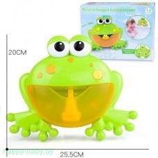 """Игрушка пенная  для ванной """"Лягушка"""" с мыльными пузырями"""