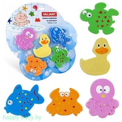 Купить мини-коврики  для ванной на присосках
