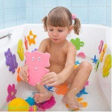 """Набор мини-ковриков для ванны """"Глазастики"""" (на присосках), 4 шт."""