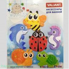 """Набор мини-ковриков для ванны """"Валиантики"""" (на присосках), 6 шт."""