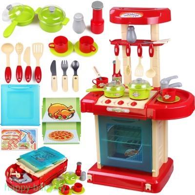 """Набор игровой """"Кухня"""" 008-56А в чемодане + корзина с фруктами, 65,5 см"""