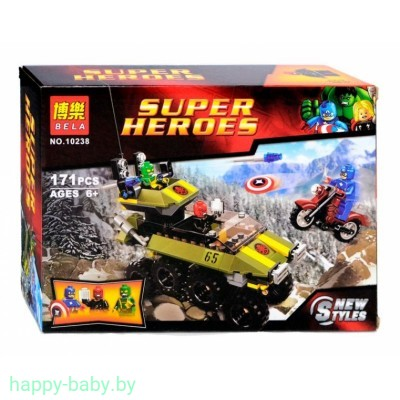 "Конструктор Bela Super Heroes ""Капитан Америка против Гидры"" арт. 10238"