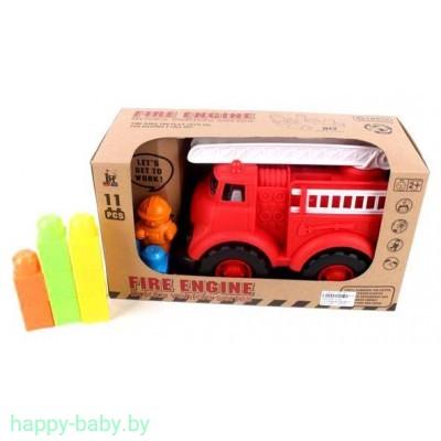 Пожарная машина с конструктором, арт. 1119B