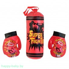 "Набор для бокса ""Super Fight"", груша и перчатки, арт. 183A-20"