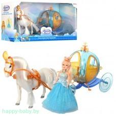 Карета  с лошадью и куклой , арт. 258A
