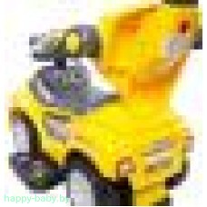 "Каталка-толокар ""DeLuxe Mega Car"" с музыкой, желтый, арт. 301"