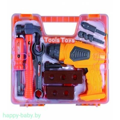Набор инструментов Tools Toys 14 предметов с шуруповертом на батарейках , арт. 36778-80