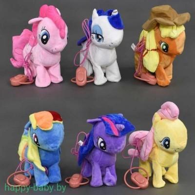 Мягкая музыкальная игрушка Little Pony на поводке, танцует, арт. 4520