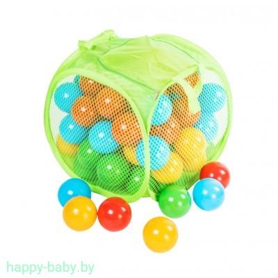 Набор шариков для сухого бассейна в корзине, диаметр 8 см, 80 шт, арт. 467 B5
