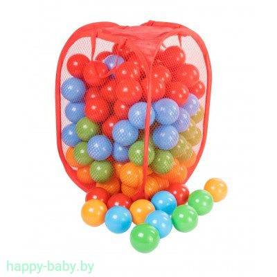 Набор шариков для сухого бассейна в корзине, диаметр 8 см, 140 шт