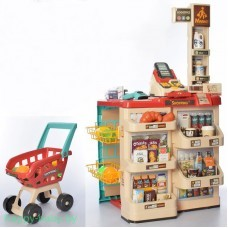 """Игровой набор """"Супермаркет"""" с тележкой, 48 предметов, свет/звук, арт. 668-78"""