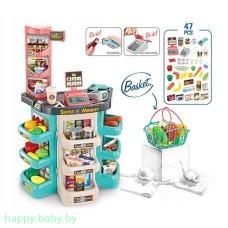 """Игровой набор """"Супермаркет"""" с корзинкой, 47 предметов, свет/звук, арт. 668-86"""