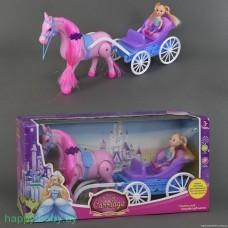 Игровой набор Кукла с каретой и лошадью , арт. 686-712