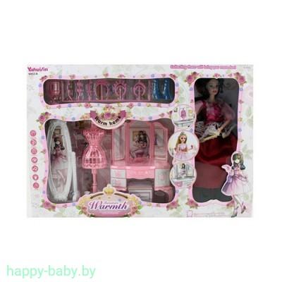 Кукла шарнирная с мебелью, свет/звук, арт. 6952-A