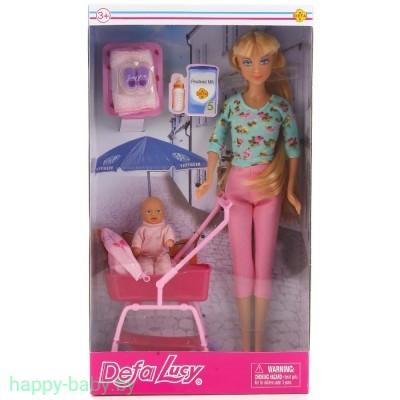 Кукла Defa Lucy с малышом в коляске, арт. 8358