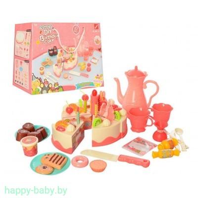 """Игровой набор """"Торт, сладкое чаепитие"""", 62 предмета, свет/звук, арт. 889-147"""