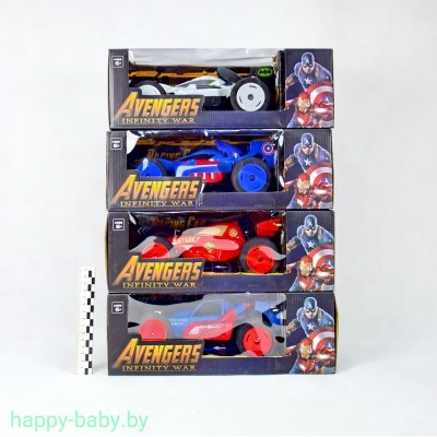 """Машинка """"Супергерои"""" Avengers на радиоуправлении, пластик, свет+звук , арт. 9116"""