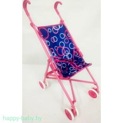 Прогулочная коляска для куклы, поворотные колеса, металлический каркас 9302W-1