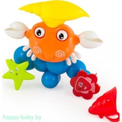 """Игрушка для купания малышей в ванне """"Крабик"""" , арт. 9903"""