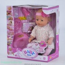 Интерактивный пупс Baby Love с аксессуарами, 8 функций, арт. BL020B