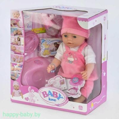 Интерактивная кукла-пупс Baby Love с аксессуарами, 8 функций, арт. BL023N