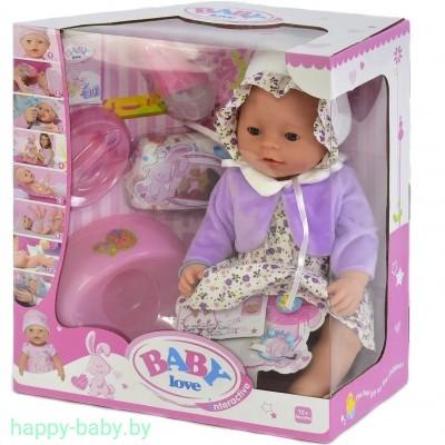 Интерактивный пупс Baby Love с аксессуарами, 8 функций, арт. BL023Q