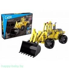 """Конструктор """"Трактор с ковшом"""", 213 деталей, инерционный механизм, арт. C52014W"""
