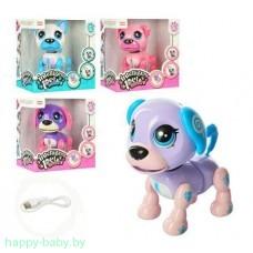 """Интерактивная собака """"Умный щенок"""" на аккумуляторе с USB зарядкой, арт. E5599-1"""