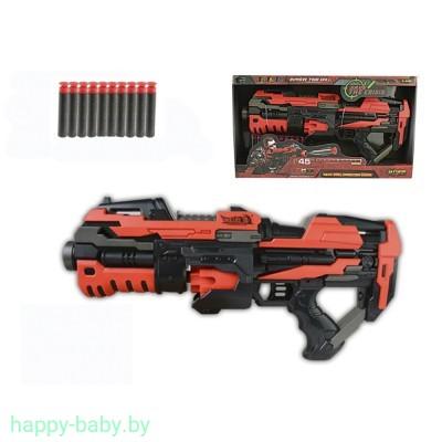 Игрушечный бластер Soft Bullet Gun с 10 мягкими пулями, свет, звук, арт. FJ822