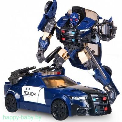 Робот-трансформер 2 в 1, робот-машина, полицейская машина, 18 см, арт. H8001-5