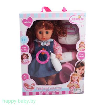 Музыкальная кукла с аксессуарами, пьет, писает, 32 см, арт. HX313-22