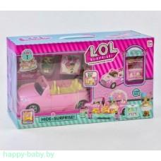 Набор Lol: автомобиль-трансформер с аксессуарами, 2 куклы, арт. QL055-1