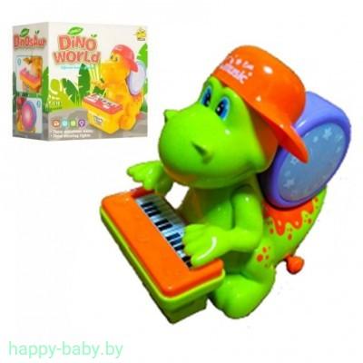 Музыкальный динозаврик со звуковыми и световыми эффектами, 20 см, арт. RP5236B