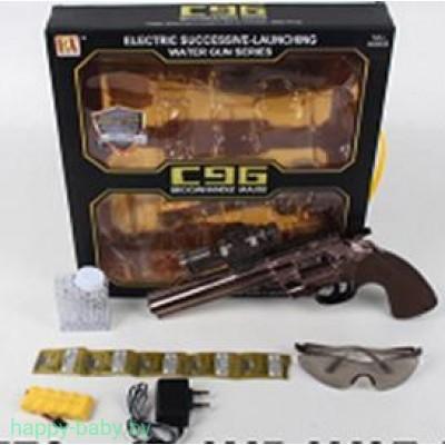 Револьвер, работает от АКБ, стреляет гелиевыми шариками, арт. RX613-3
