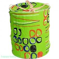 Корзина для игрушек тканевая, зеленая, арт. В23551