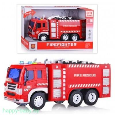 Инерционная пожарная машина, свет/звук, арт.WY350A
