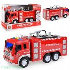 Пожарная машина инерционна с водяной помпой, свет/звук, арт. WY351A