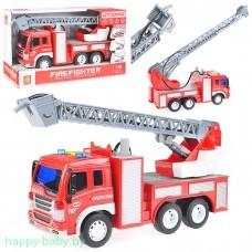 Пожарная инерционная машина, свет/звук, стреляет водой, арт. WY351B