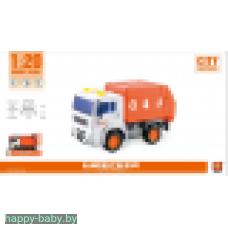 Машина Мусоровоз, свет/звук, оранжевый, арт. WY541C
