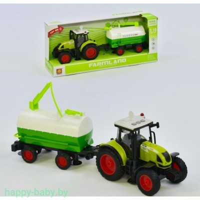 Трактор инерционный с бочкой для полива, свет/звук, арт. WY900A