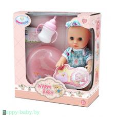 Кукла пупс Warm Baby, 25 см, пьет/писает, арт. WZJ032A-1