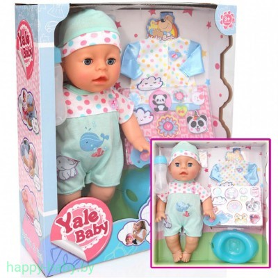 "Кукла""Yale baby"". 2 вида с одеждой. арт. YL1722B"