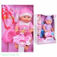 Интерактивный пупс Doll с набором доктора, пьет/писает, 40 см, арт. YL1812A