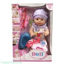 Интерактивный пупс Doll с набором доктора, пьет/писает, 40 см, арт. YL1812B