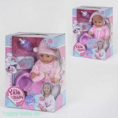"Кукла пупс с музыкальным горшком ""Yale baby"" (рост 40 см.), 2 вида, арт. YL19001E"