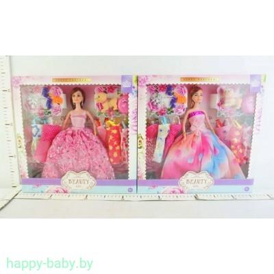 Кукла с платьями и питомцем, 29 см, арт. YX1012A